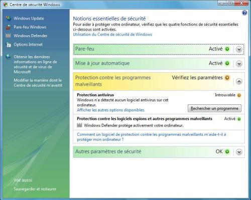 windows defender antivirus pour vista